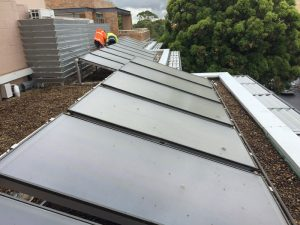 commercial solar hot water western suburbs